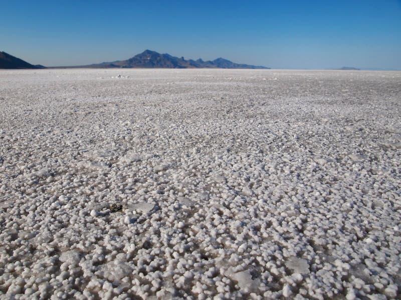 Planos de sal de Bonneville na terra imagem de stock