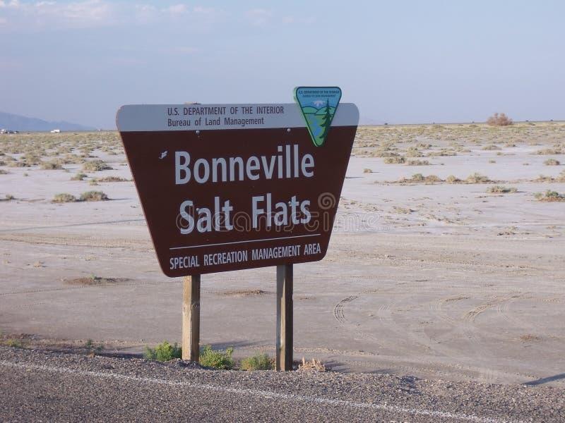 Planos de sal de Bonneville, Utá, EUA foto de stock royalty free