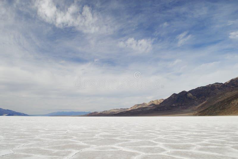 Planos de sal em Badwater em Death Valley fotos de stock