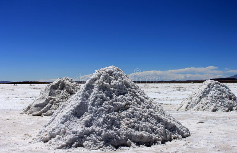 Planos de sal, Uyuni, Bolívia. fotografia de stock royalty free