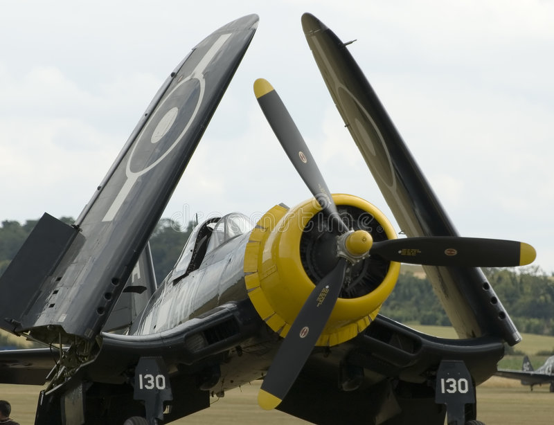 Planos de WWII no airshow de Duxford foto de stock