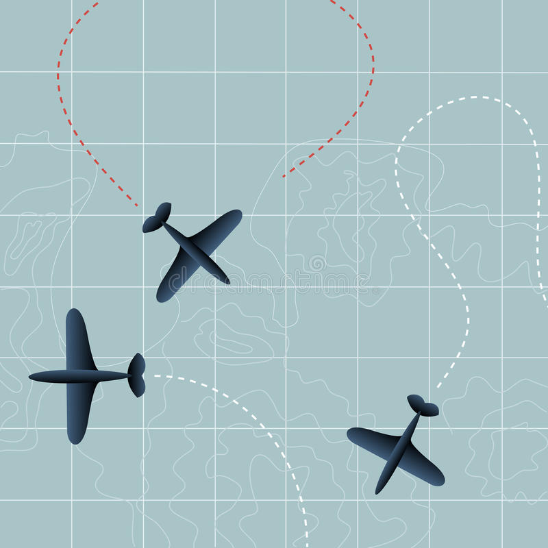 Planos del vuelo ilustración del vector