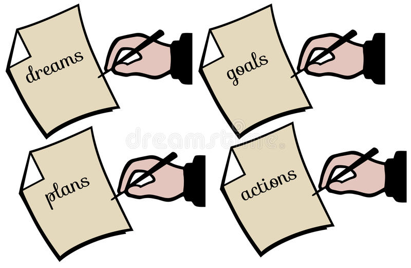 Planos futuros ilustração stock