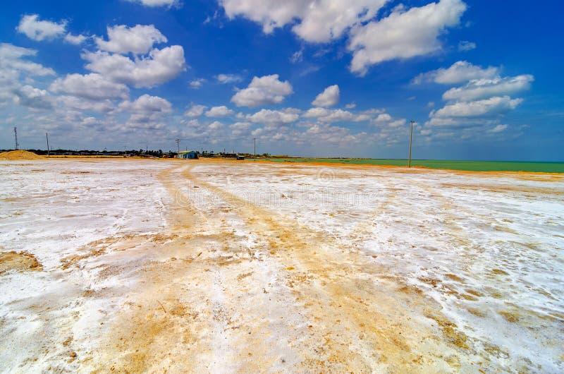 Planos litorais de sal foto de stock