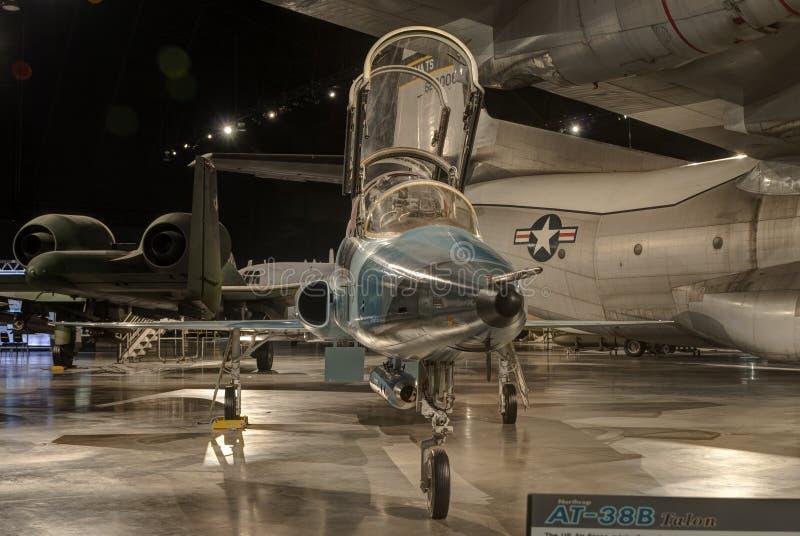 Planos no museu do U.S.A.F., Dayton, Ohio imagens de stock