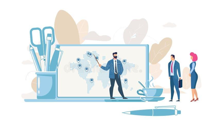 Planowania Firma strategii wektoru Wzrostowy pojęcie ilustracja wektor
