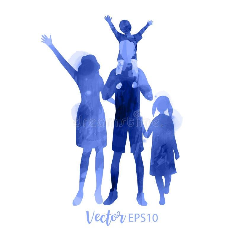 Planowania rodziny pojęcie E r Wektorowa ilustracja EPS10 ilustracji