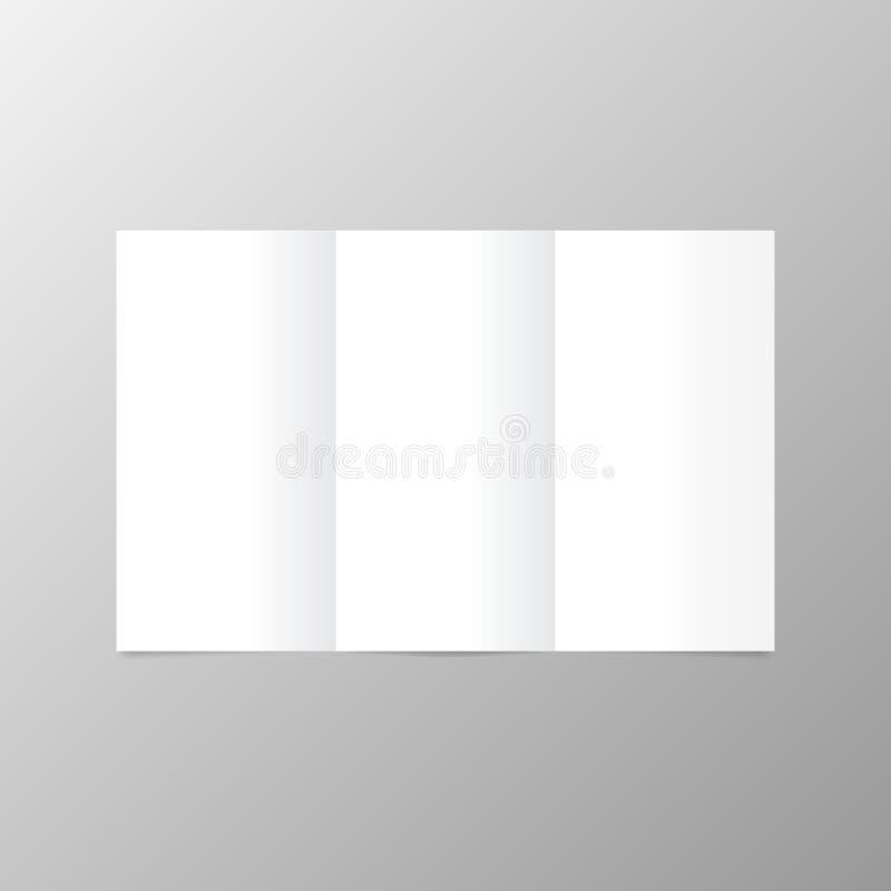 Planpostkarte mit offenen Leerseiten lizenzfreie abbildung