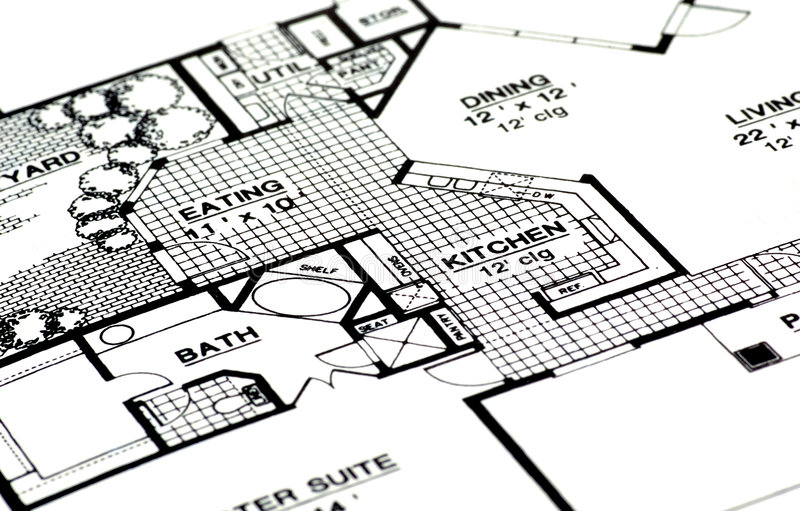 Plans à la maison image stock