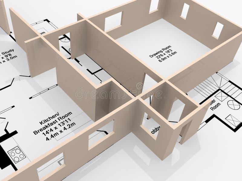 Plans illustration stock