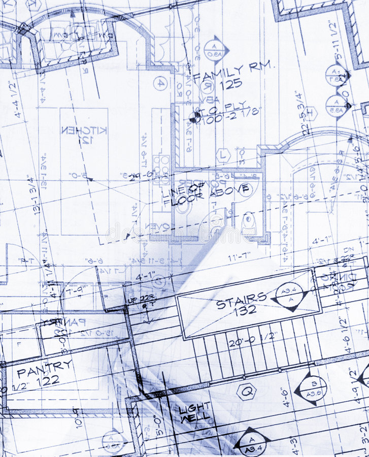 Plans. Abstract house plans layers image stock photos