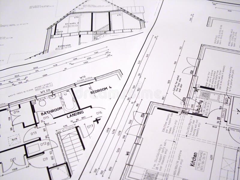 Plans architecturaux photos stock