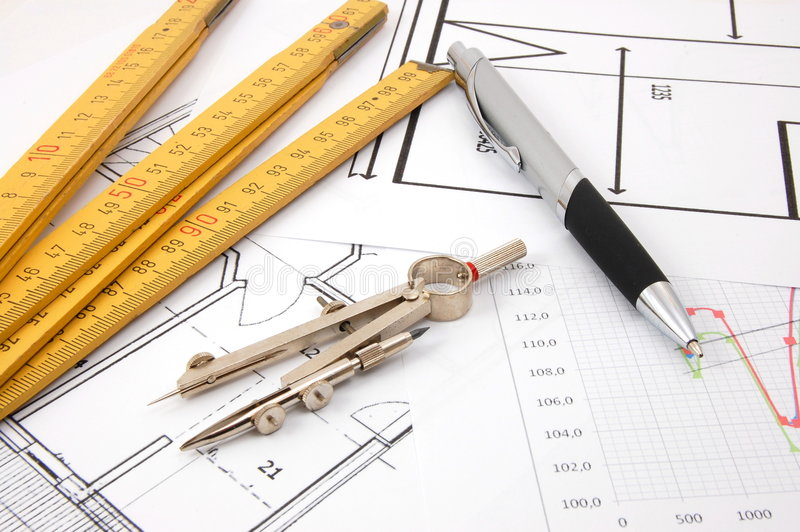 Download Plans for architecture stock image. Image of drawing, engineering - 8366627