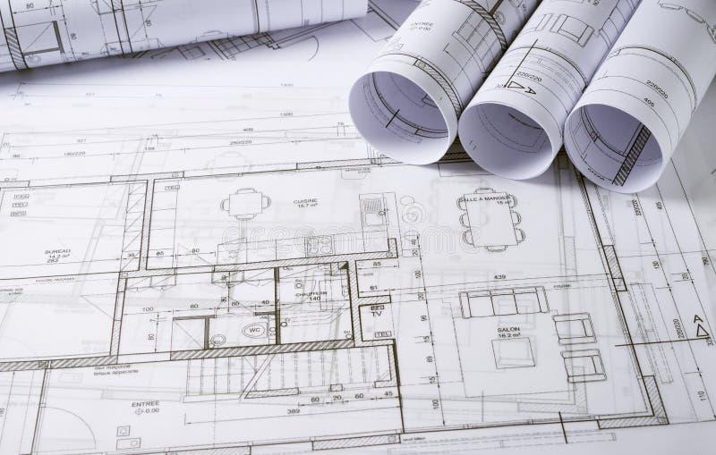 Plans d'architecture photographie stock libre de droits