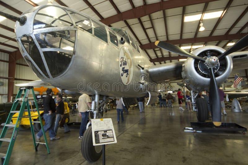 Plans de bombardier de la renommée B-25 Mitchell image stock