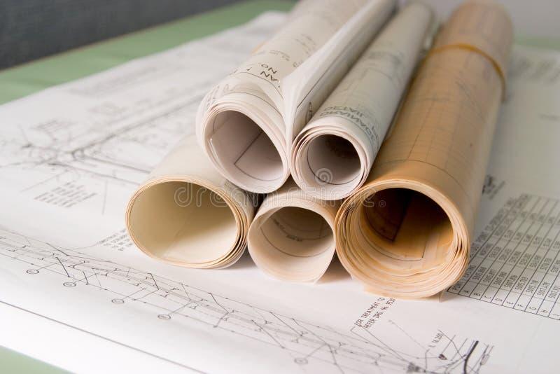 Plans de construction photographie stock
