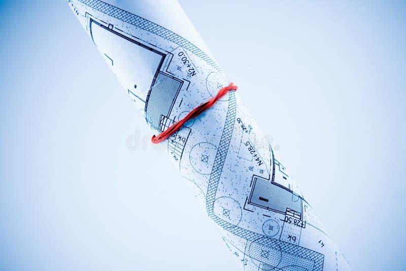 Plans de construction image stock