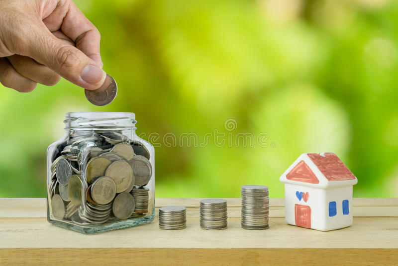 Plans de l'épargne pour le logement photographie stock