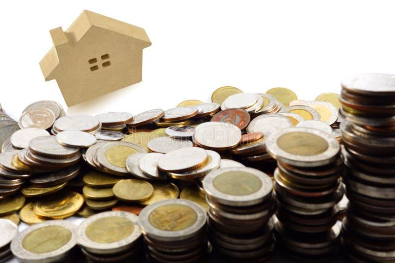 Plans de l'épargne pour loger, concept financier images stock
