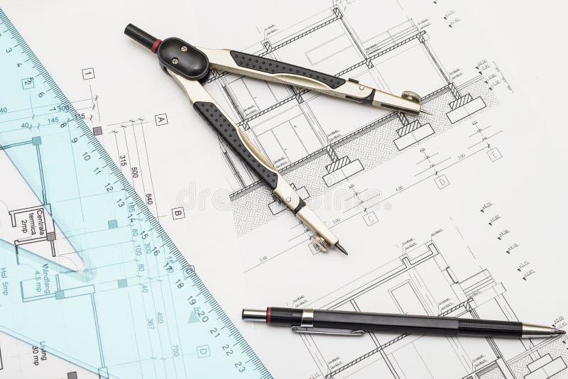 Plans et outils photo stock