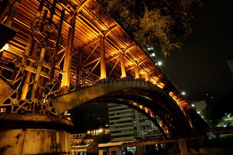Planskild korsningjultomten Efigência São Paulo royaltyfri foto
