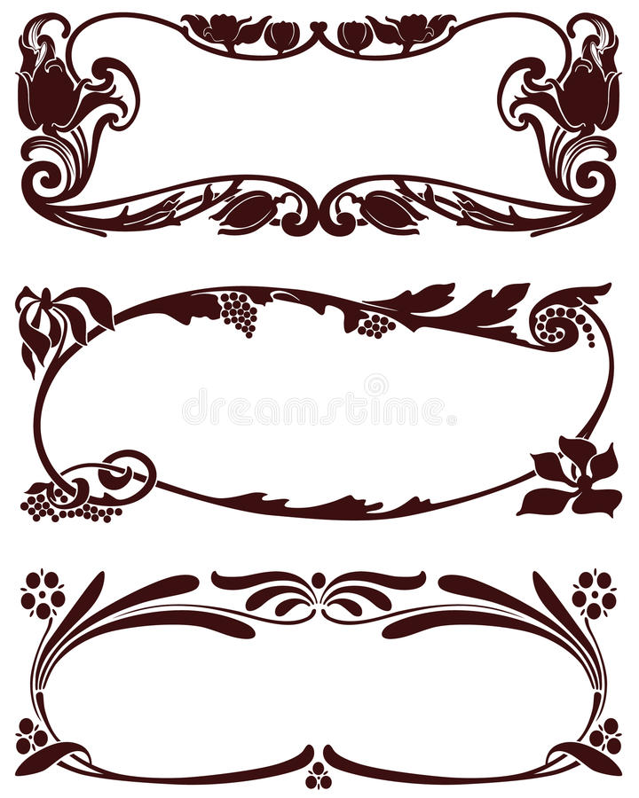 Plant Abstract border vector illustration