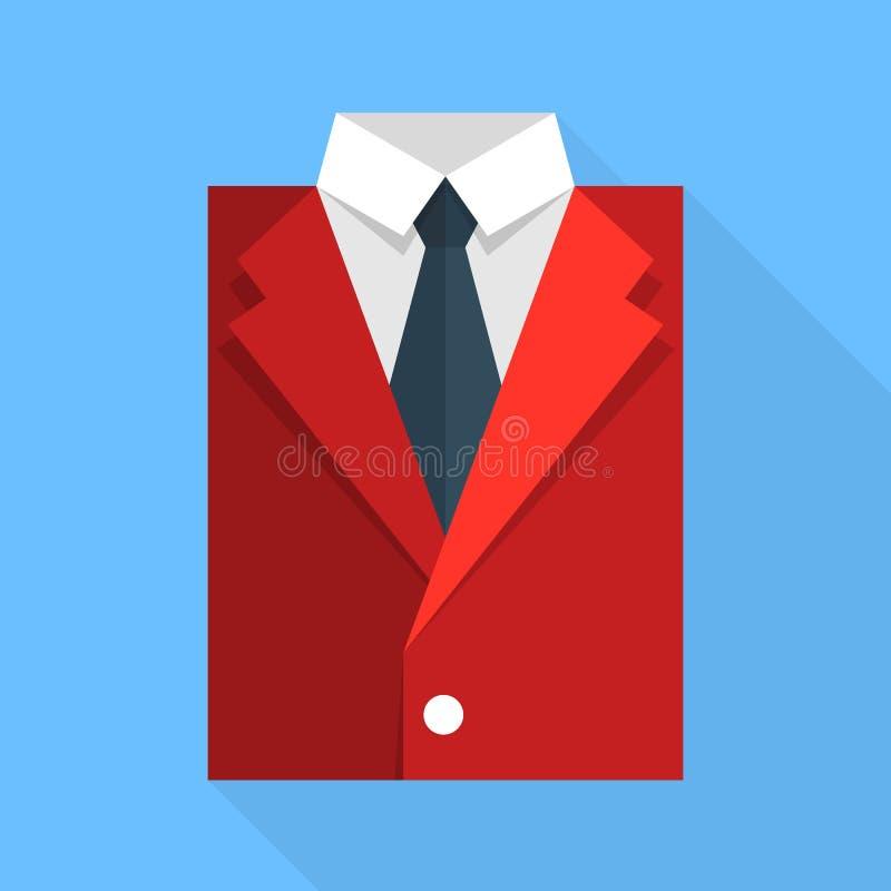 Plant affärsomslag och band Rött färga royaltyfri illustrationer