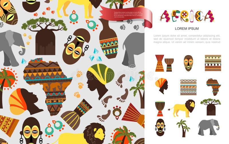 Plant afrikanskt etniskt begrepp royaltyfri illustrationer
