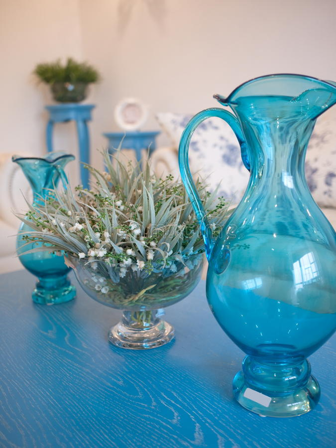 Free Plant And Blue Glass Bottle Royalty Free Stock Images - 12480909