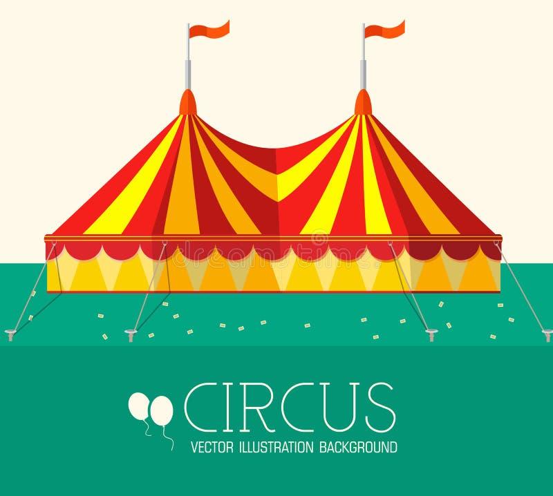 Plant bakgrundsbegrepp för cirkus vektor stock illustrationer