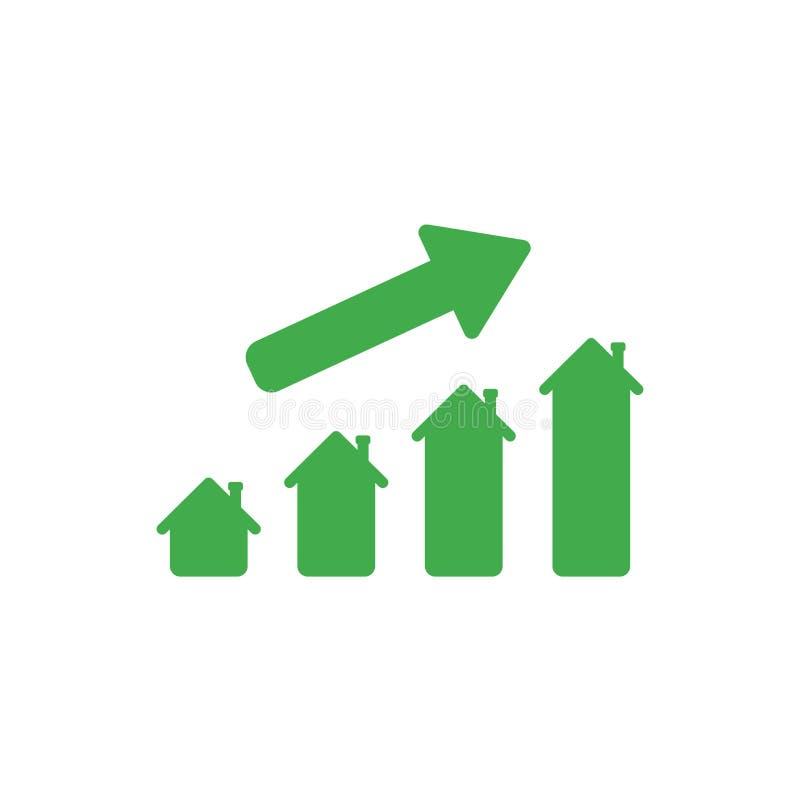 Plant begrepp för designstilvektor av husförsäljningar eller värdestångchaen vektor illustrationer