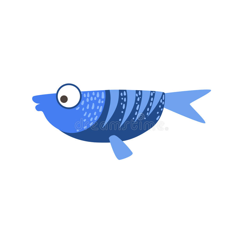 Plant blått och mörker - blå fantastisk färgrik akvariefisk, vatten- djur för tropisk rev vektor illustrationer