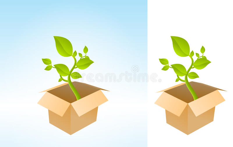 Download Plant Box stock vector. Image of square, earth, environment - 22144534