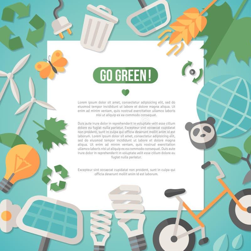 Plant designbegrepp för ekologi royaltyfri illustrationer