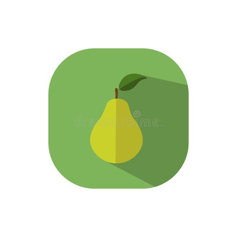 Plant designpäron vektor illustrationer