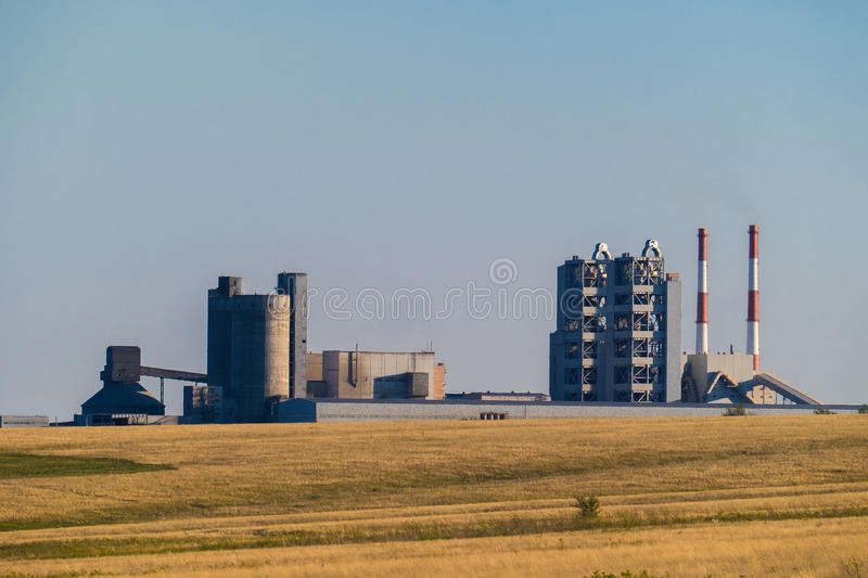 Plant for the extraction and processing of gravel and sand for use in roads and construction industry stock photos