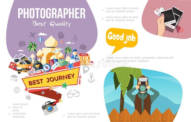Plant fotografiInfographic begrepp stock illustrationer