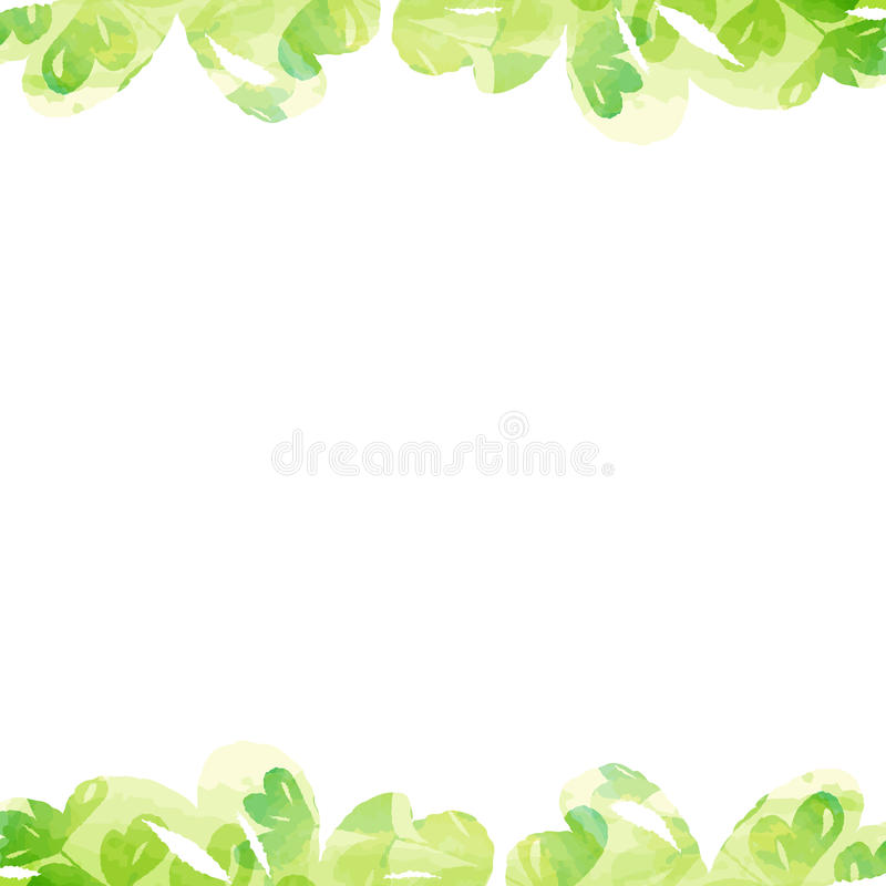 Download Plant Frame Of Pastel Color Watercolor Painting Texture Stock Vector - Illustration of plant, cool: 88081883