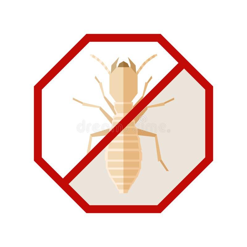 Plant geometriskt tecken med termit stock illustrationer