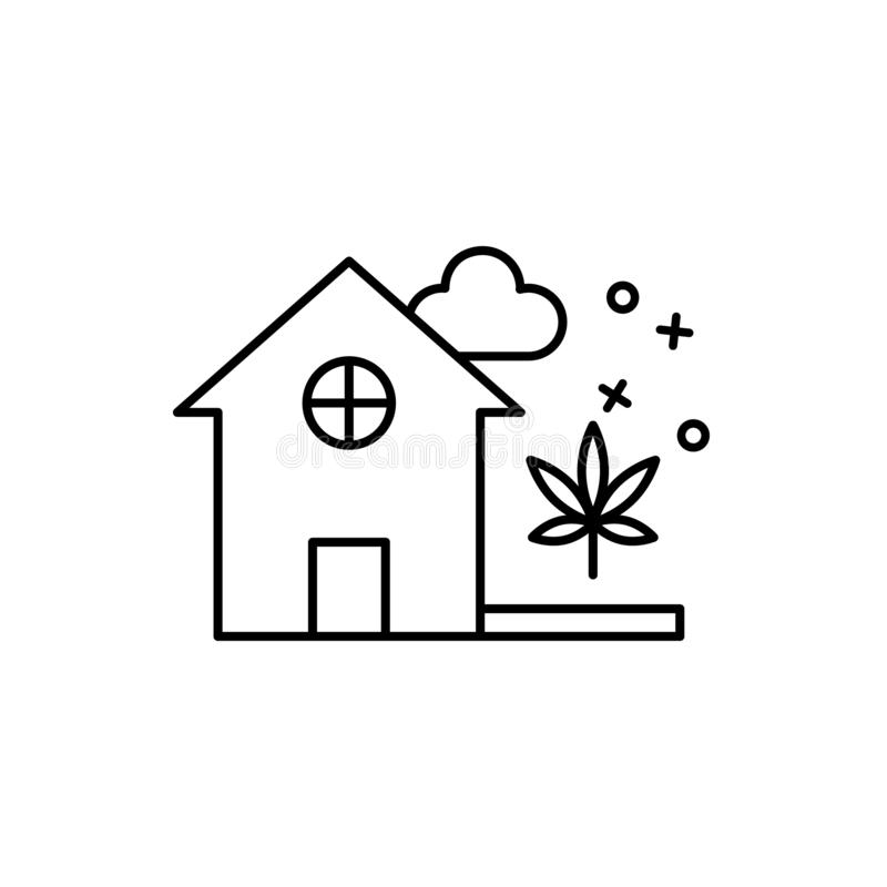 Plant growing home icon. Element of narcotic icon. Plant growing home icon. Element of narcotic on white background vector illustration