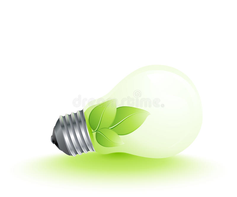Plant Growing In Lightbulb Stock Images