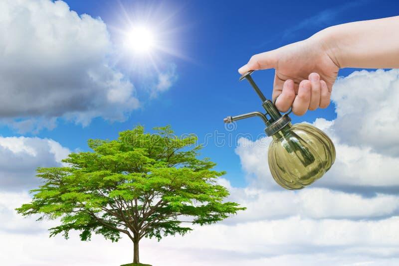 Plant het boomconcept voor eco goed milieu van de aardedag vector illustratie