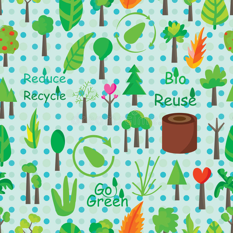 Plant Icon Seamless Pattern royalty free illustration