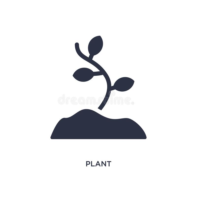 plant icon on white background. Simple element illustration from stone age concept royalty free illustration