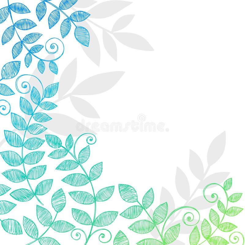 Plant Leaves Foliage Sketchy Notebook Doodles stock illustration