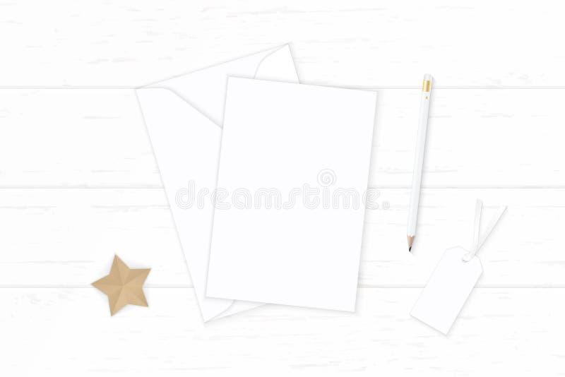 Plant lekmanna- för sammansättningsbrevpapper för bästa sikt elegant vitt hantverk för form för stjärna för etikett för blyertspe vektor illustrationer
