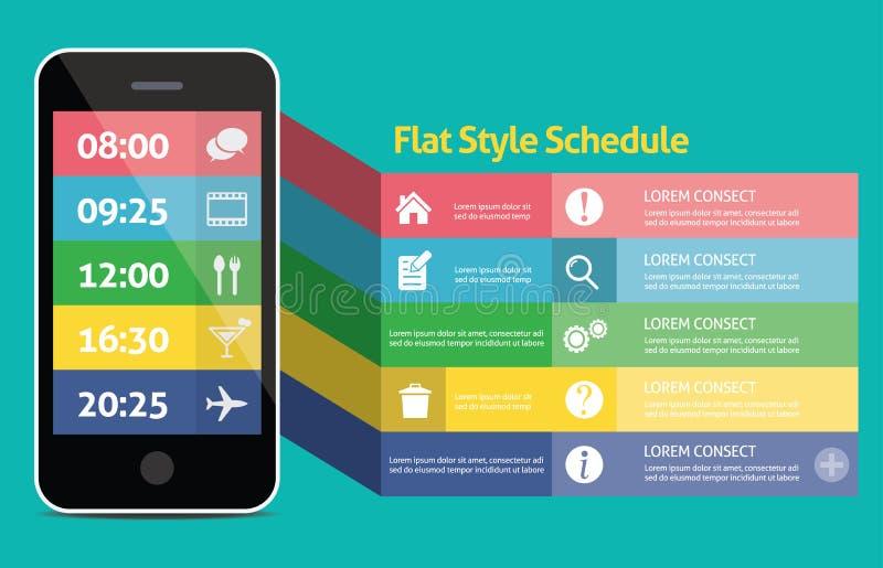Plant mobilt begrepp för rengöringsduk UI för mobil eller minnestavla oss royaltyfri illustrationer