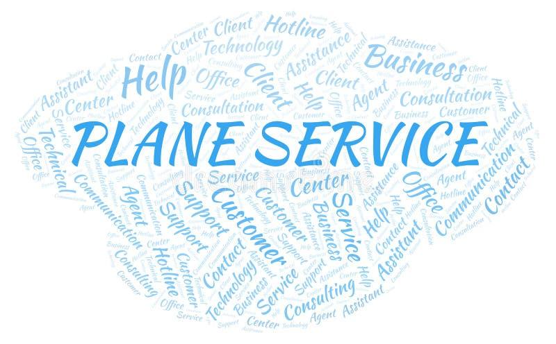 Plant moln för serviceord vektor illustrationer
