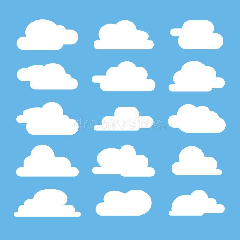 Plant moln på blå bakgrund royaltyfri illustrationer