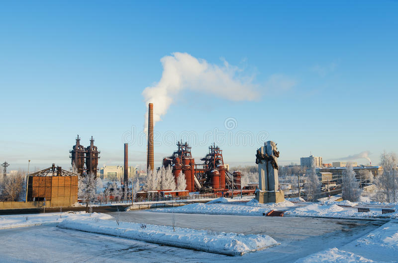 Plant - Museum of the history of mining technology. NIZHNY TAGIL, RUSSIA - FEBRUARY 13, 2016: Plant - Museum of the history of mining technology. The plant was royalty free stock photos